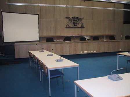 Sitzungssaal des LG Mannheim