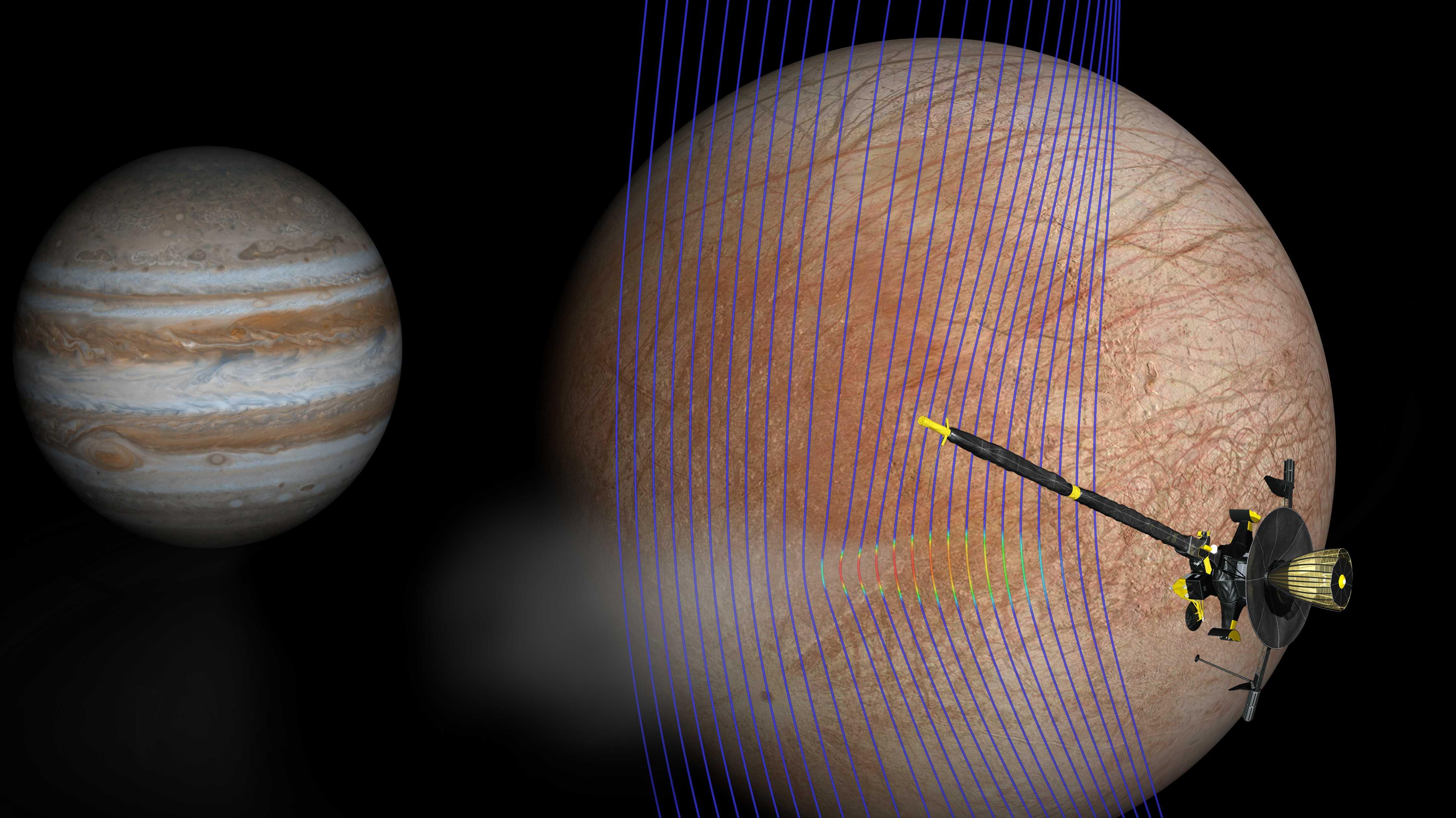 Jupitermond Europa: Neue Hinweise auf Wasserfontänen dank NASA-Sonde Galileo