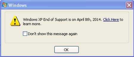 Ab kommendem Samstag soll ein Dialog XP-Nutzer monatlich daran erinnern, dass der Support für das Betriebssystem ausläuft.