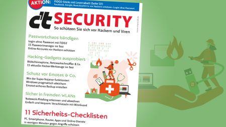 heise-Angebot: Sonderheft c't Security: Passwort-Chaos bändigen, unterwegs sicher surfen