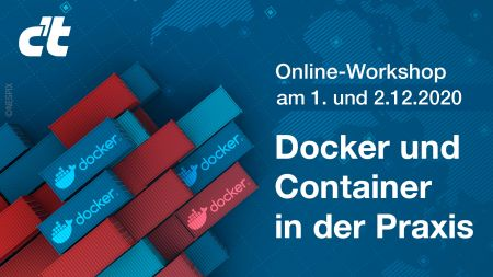 heise-Angebot:  Online-Workshop: Docker und Container in der Praxis