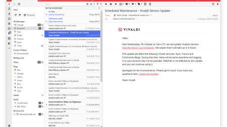 Vivaldi: Browser integriert E-Mail-Client