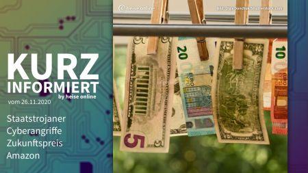Kurz informiert: Staatstrojaner, Cyberangriffe, Zukunftspreis, Amazon
