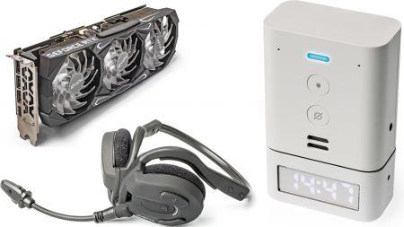 heise+ | Kurztests: KFA² GeForce RTX 3080 SG, Outdoor-Headset und Alexa-Smart-Clock