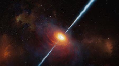Kosmische Jets füttern supermassereiche Schwarze Löcher 