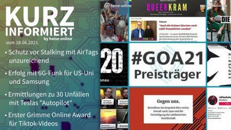 Kurz informiert: AirTags, 6G, Tesla, Grimme Online Award