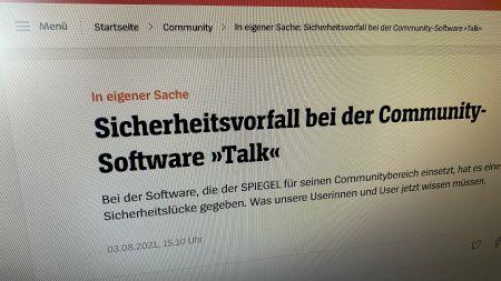 """Community beim """"Spiegel"""": Angreifer könnten Namen und Mailadressen zuordnen"""