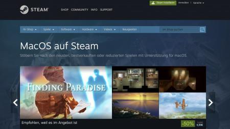 Spieleplattform Steam streicht Support für ältere macOS-Versionen