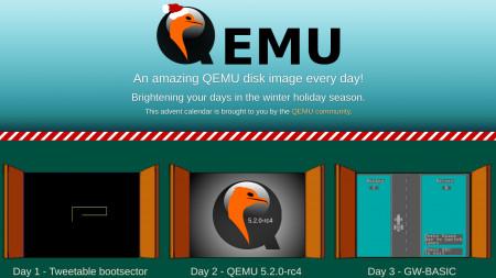 Virtuelle Maschinen im QEMU-Adventskalender: Hinter jedem Türchen ein QEMU-Image