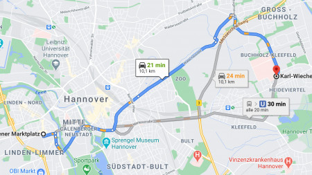 Sixt Ride ist künftig in Google Maps integriert