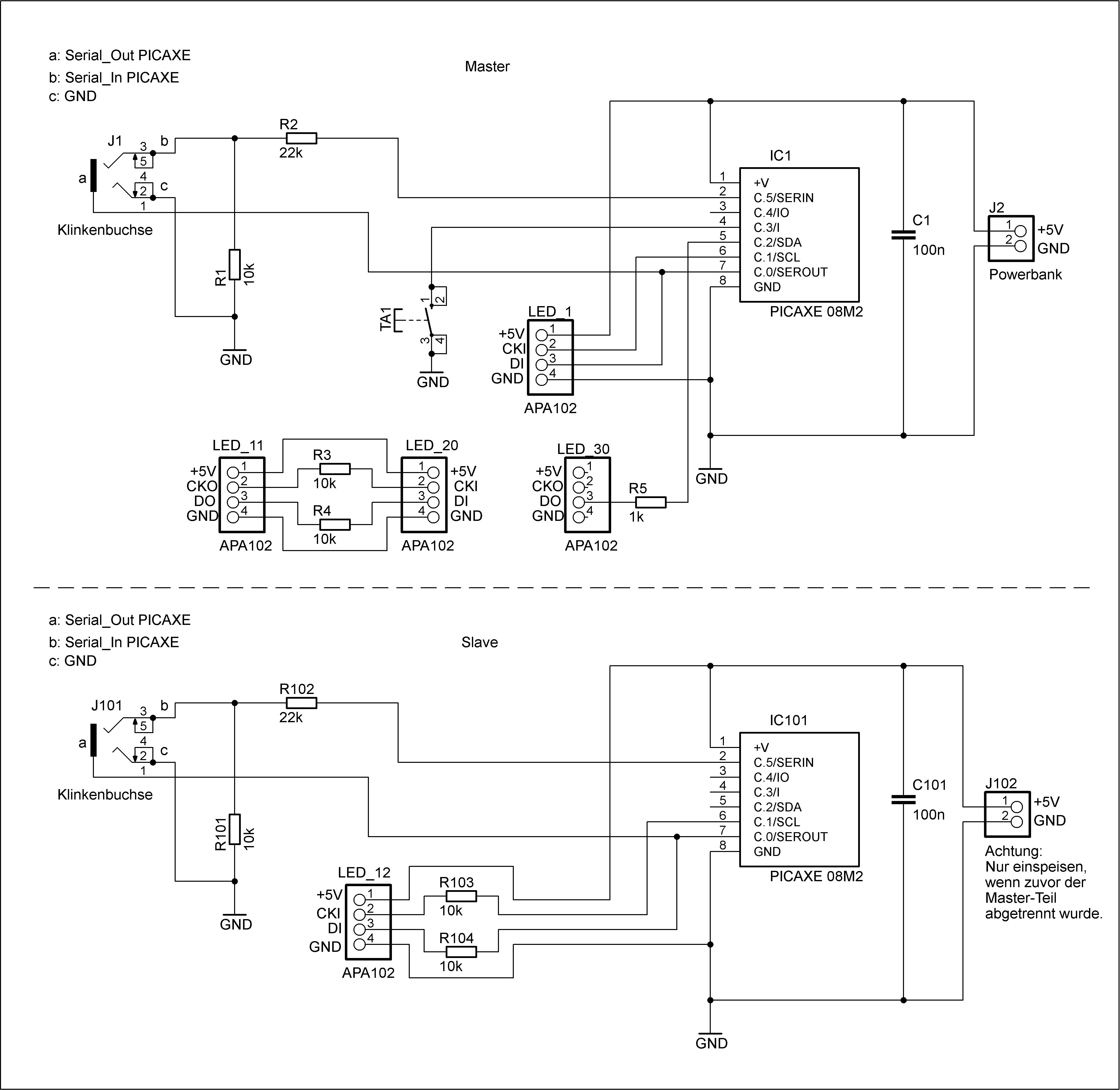 Schaltpläne des LED-Schlips