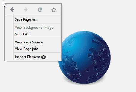 Icons am oberen Rand des Kontextmenüs sollen das Navigieren erleichtern.
