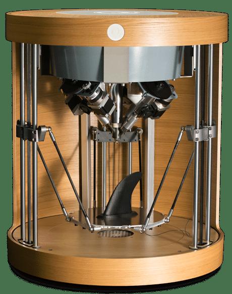 Echtholzfurnier und Innovation: der 3D-Drucker Pam