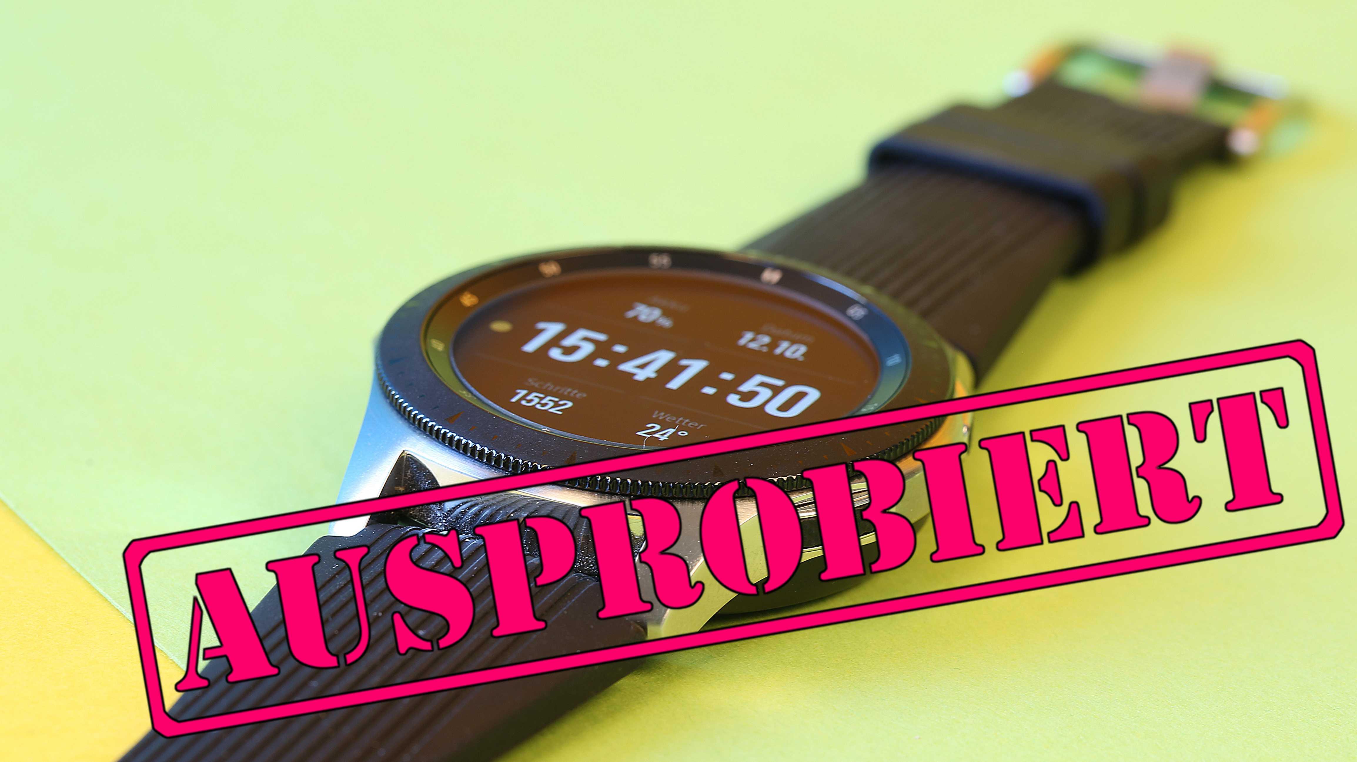 Samsung Galaxy Watch im Test: Lange Batterielaufzeit und Funktionen satt