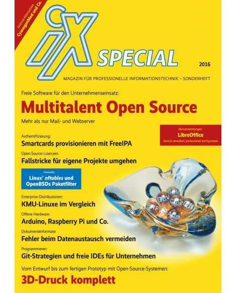 Neues iX-Sonderheft: Open Source im Unternehmen
