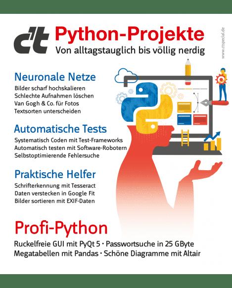 Sonderheft c't Python-Projekte 2020
