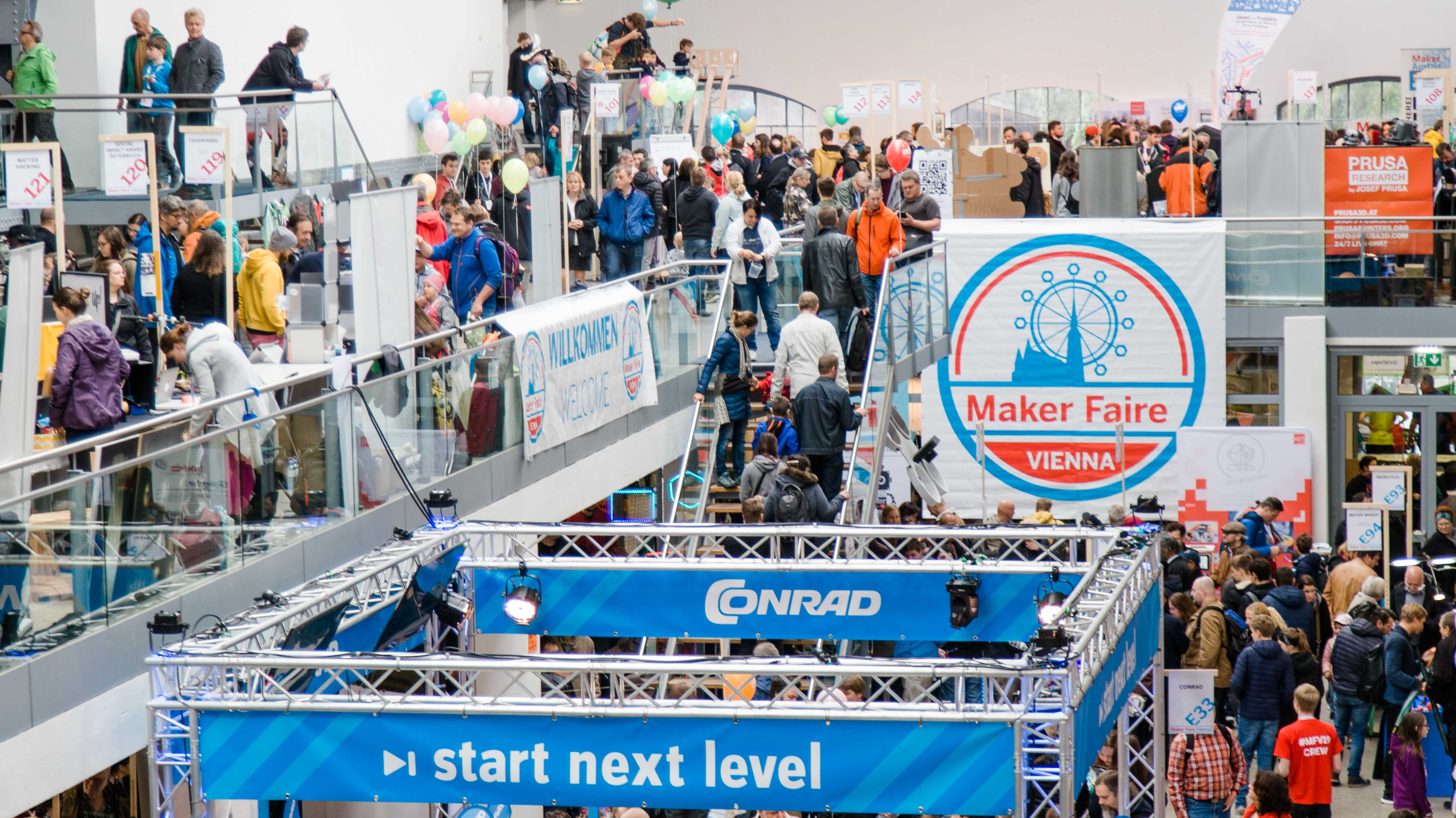 Blick in die METAStadt Wien während der Maker Faire Vienna 2019.