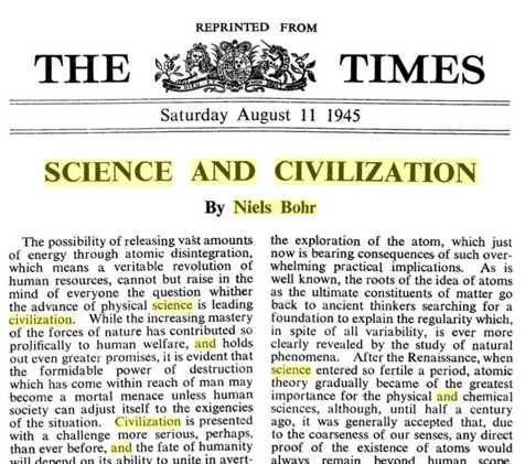 Bohrs Artikel