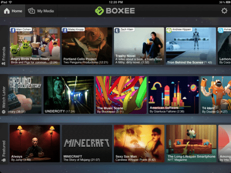 Boxees iPad-App