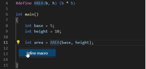 C/C++ Extension für Visual Studio Code: Makros inline expandieren
