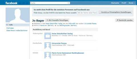 Was bedeutet facebook vorschau