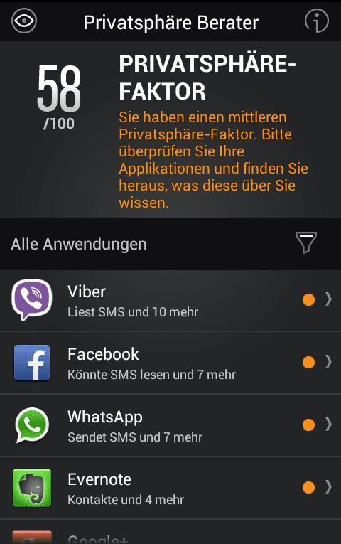 Bitdefender zeigt, was installierte Apps hinter dem Rücken des Nutzers treiben.