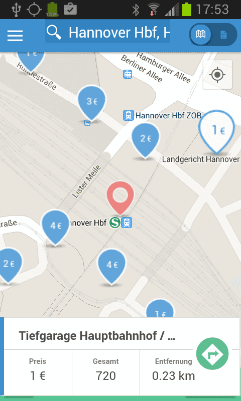 Parkpocket-Screenshot