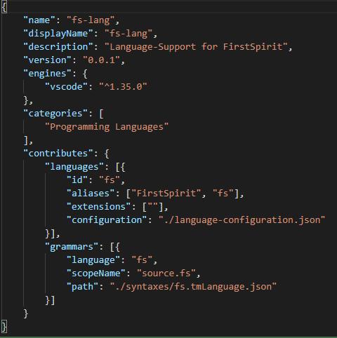 package.json beschreibt die Grundeinstellungen und Inhalte der Erweiterung (Abb. 2).