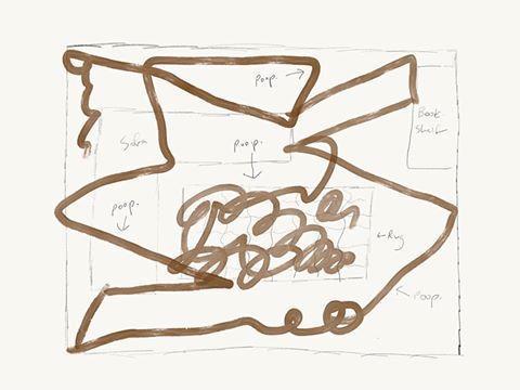 Ein Skizze von Jesse Newton