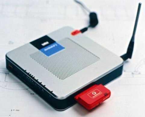 Kombination aus Linksys-Router WRT54G3G und UMTS-/GPRS-Datenkarte