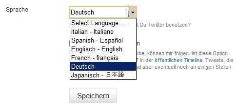 Twitter auf Deutsch