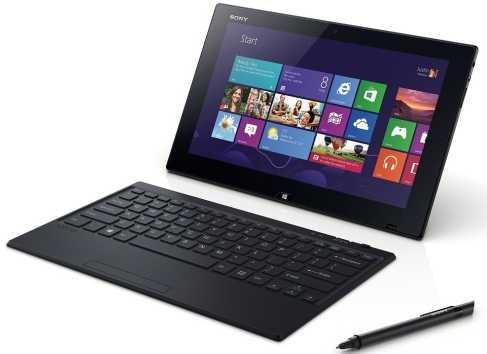 Mit Tablets (hier Sony Vaio Fit) und elektronischen Stiften lässt sich vielleicht der Handschrift-Effekt nutzen