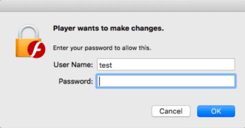 Mit einem solchen Hinweisdialog versucht die Malware das Nutzerpasswort zu erlangen.