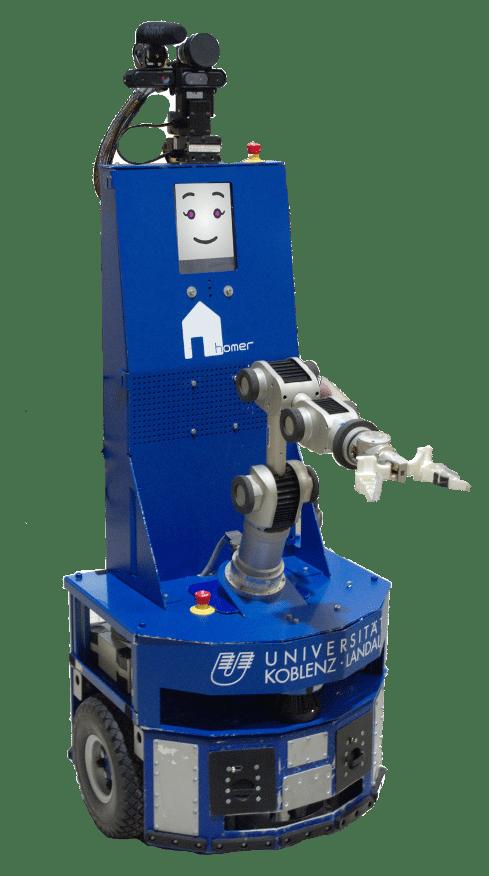 So sehen Sieger aus: der Roboter Lisa vom Team Homer aus Koblenz