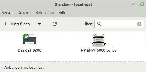 In der Drucker-Systemverwaltung konfigurieren Sie lokale und Netzwerk-Drucker.