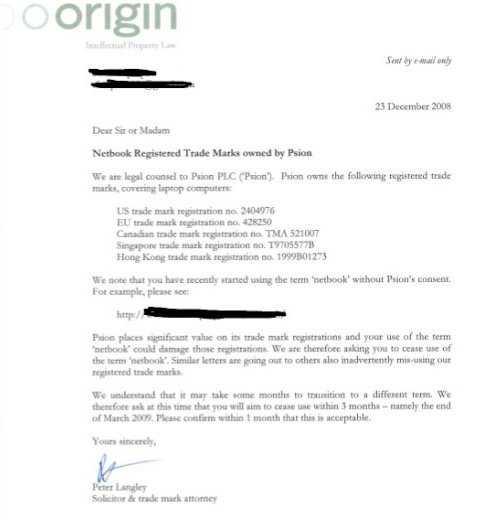 Das auf jkontherun.com veröffentlichte Schreiben mit Unterlassungsanordnung.