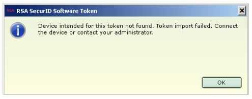 Eigentlich sollte sich die SecurID-Software weigern, Token zu generieren.
