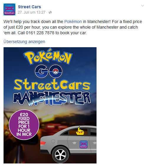 Für ein Taxi-Unternehmen aus Manchester entwickelt sich ein Marketing-Gag zum Geschäftsmodell.
