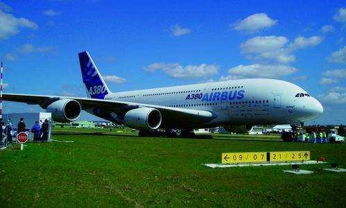 Erster Auftritt des Airbus A380 bei der Paris Airshow