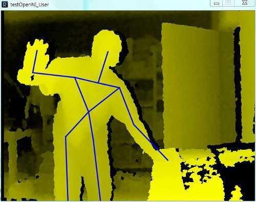 Mit Hilfe des OpenNI-Frameworks lassen sich Gesten und Handbewegungen auslesen und interpretieren.