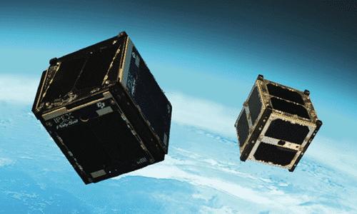 Mini-Satelliten wie diese können die Outernet-Inhalte auf die Erde funken.