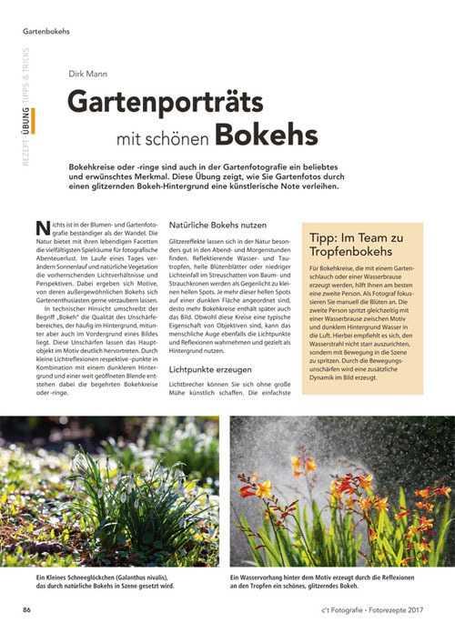Dirk Mann betreibt eine Fotogärtnerei. Er erklärt wie Pflanzenporträts im Garten mit tollem Bokeh-Hintergrund entstehen können und gibt Tipps für verschiedene Bildlooks.