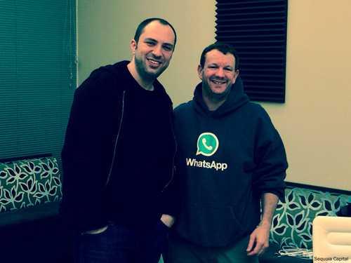 WhatsApp-Gründer mit Hoodies: Jan Koum und Brian Acton.