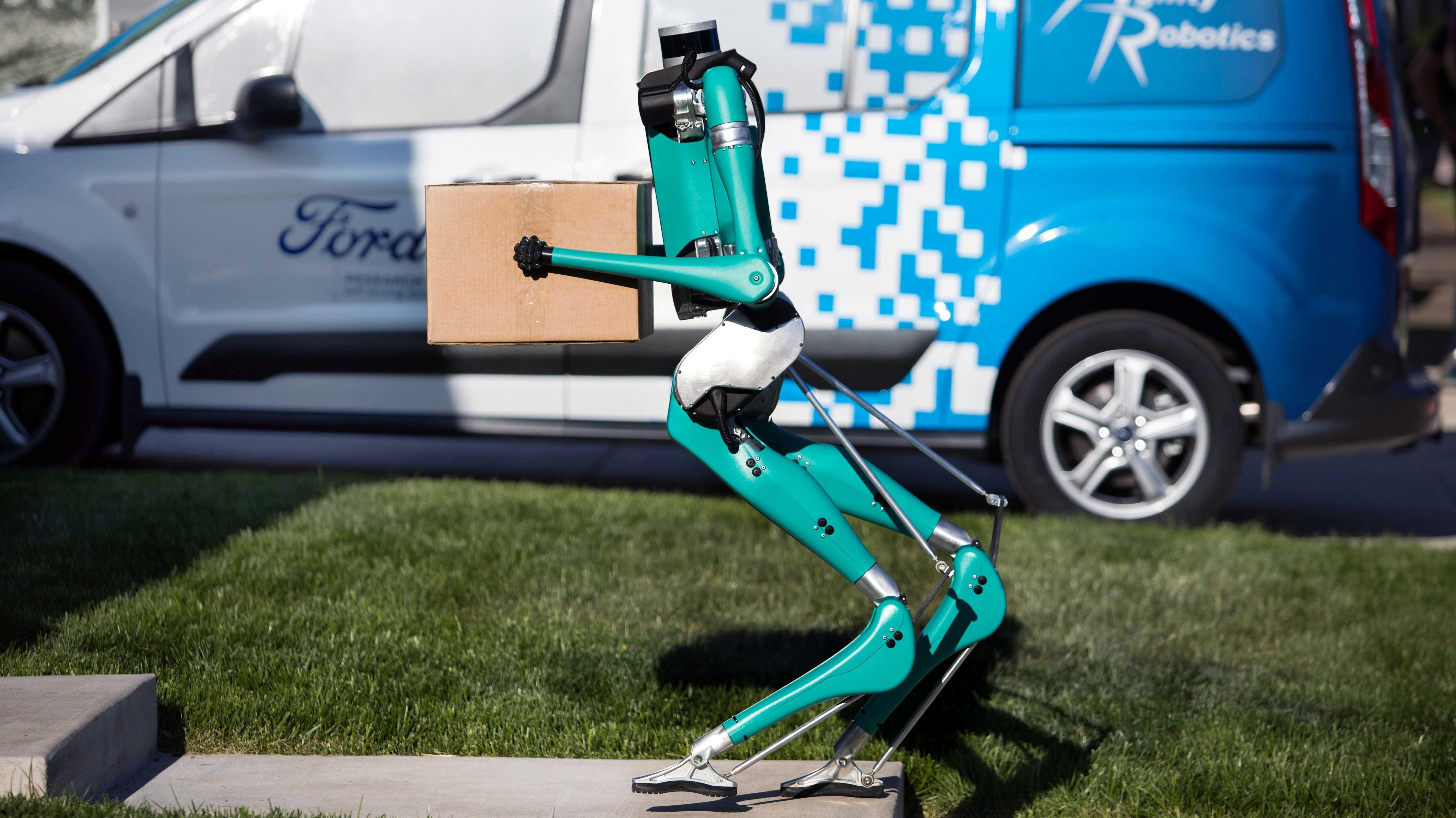 """Ford testet kopflosen Roboter """"Digit"""" zur Paketauslieferung"""