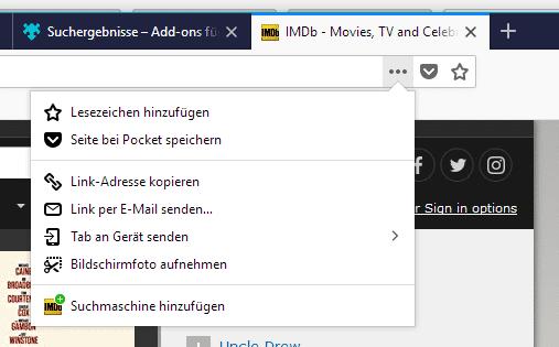 Alternativen zu Google lassen sich nun einfacher in die Adressleiste von Firefox einfügen.
