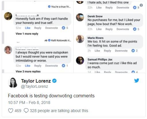 """Bei Twitter tauchten erste Screenshot von der """"Downvote""""-Funktion auf."""