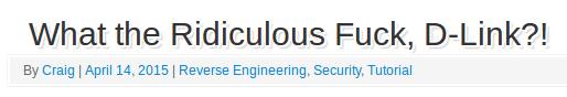 Selbst die routinierten Routerhacker sind entsetzt über die Qualität des D-Link-Patches.