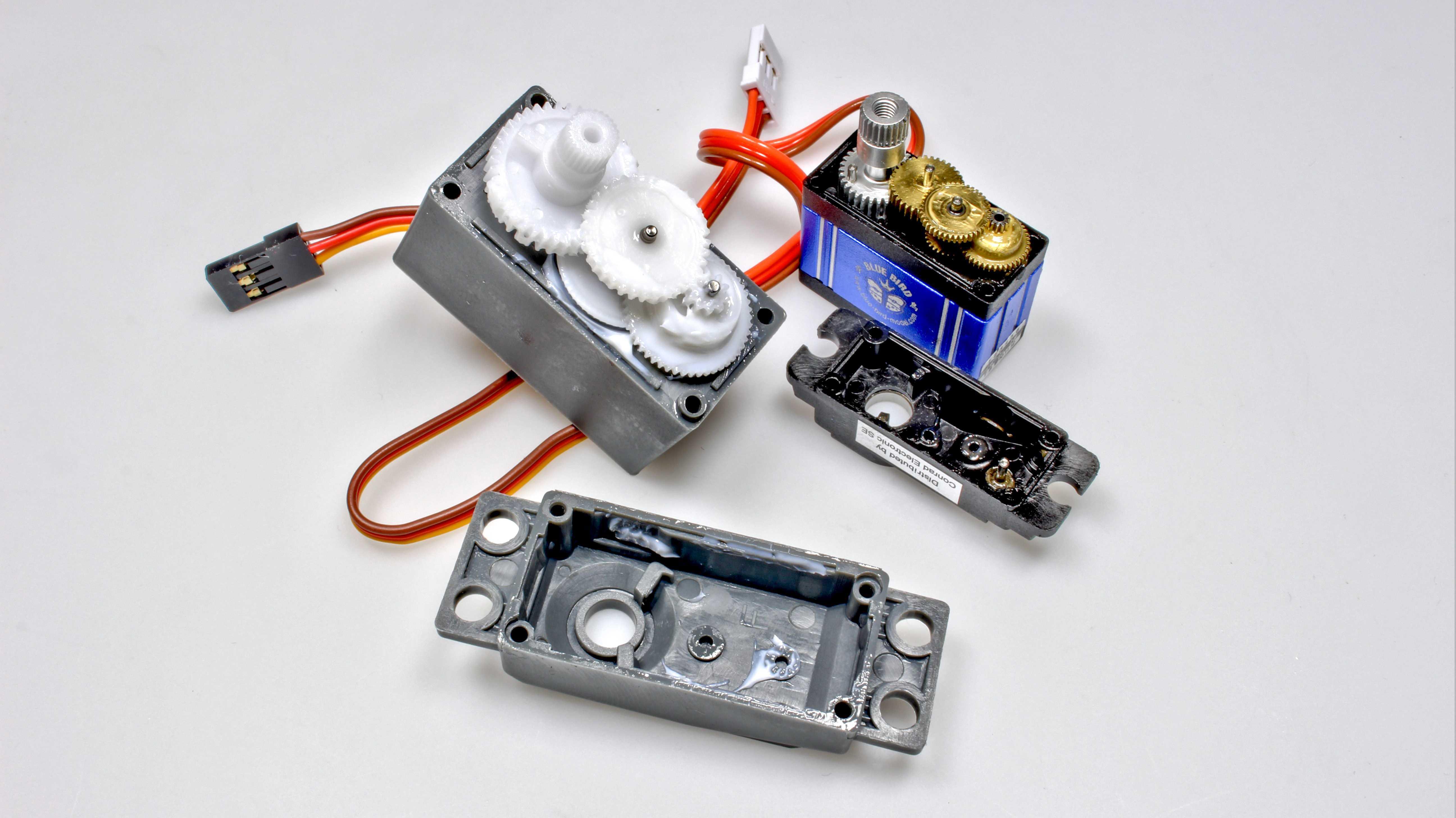 Aufbau eines Servomotors