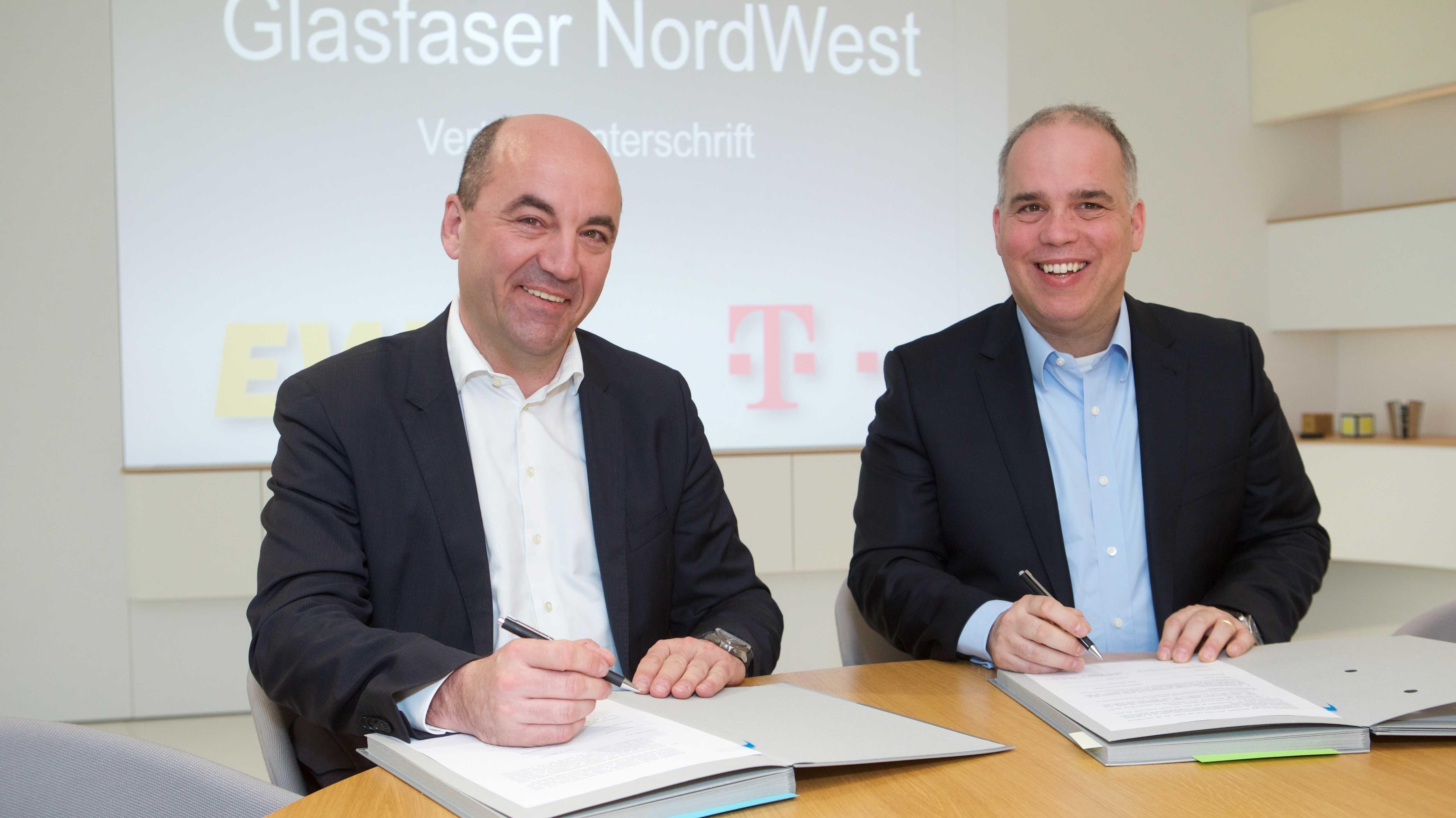 """FTTH-Kooperation: Telekom und EWE bringen """"Glasfaser NordWest"""" auf den Weg"""