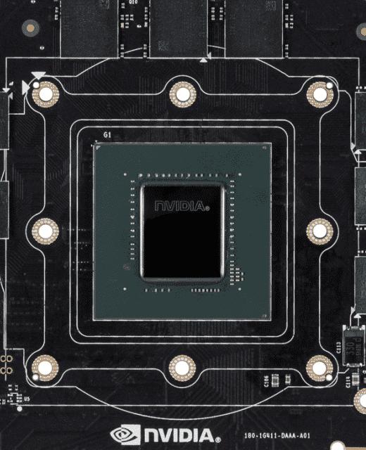 Auf der GeForce GTX 1070 Ti kommt ein GP104-Grafikchip zum Einsatz.